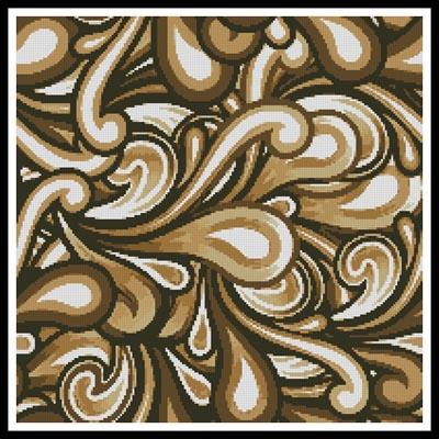 click here to view larger image of Brown Swirl Cushion (chart)