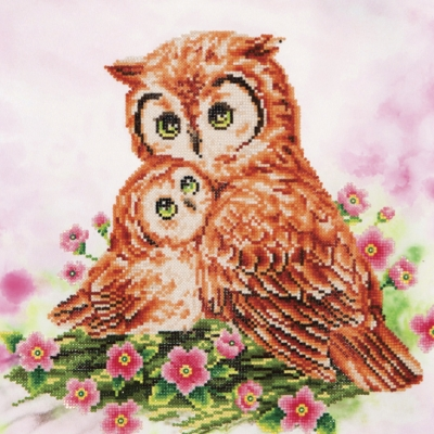 click here to view larger image of Mother and Baby Owl (Diamond Embroidery)