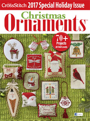 click here to view larger image of Just Cross Stitch - 2017 Christmas Ornaments (magazines)