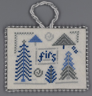 click here to view larger image of Firs - Blue and Silver Christmas (chart)