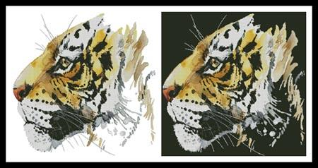 click here to view larger image of Abstract Tiger (chart)