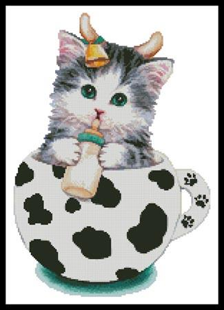 Cow Kitty Cup - click here for more details about chart