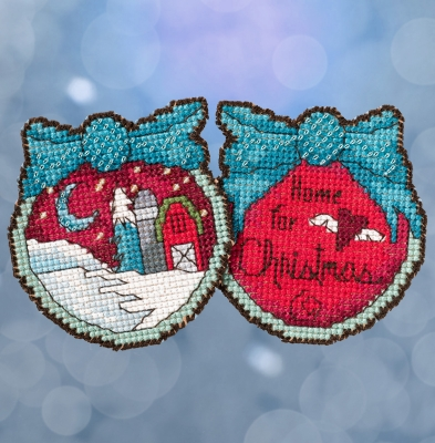 Home For Christmas - Sticks Kits - click here for more details about counted cross stitch kit