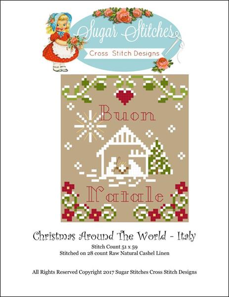 click here to view larger image of Christmas Around The World - Italy (chart)