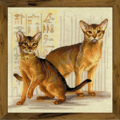 click here to view larger image of Abyssinian Cats (counted cross stitch kit)