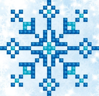 click here to view larger image of Snowflake Sparkle (Diamond Embroidery)
