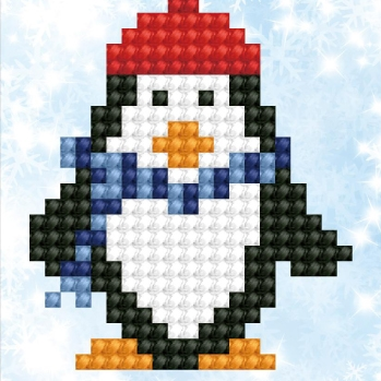 click here to view larger image of Penguin Waddle (Diamond Embroidery)