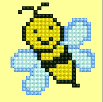 click here to view larger image of Buzy Buzzz (Diamond Embroidery)