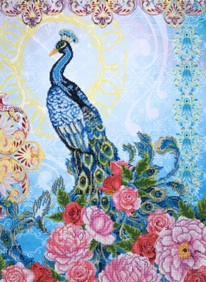 click here to view larger image of Exotic Peacock (Diamond Embroidery)