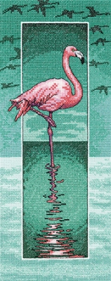 click here to view larger image of Flamingo (Evenweave) (counted cross stitch kit)