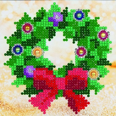 click here to view larger image of Christmas Wreath (Diamond Embroidery)