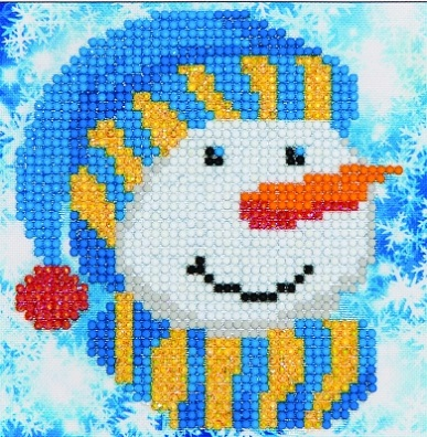 click here to view larger image of Snowman Cap (Diamond Embroidery)