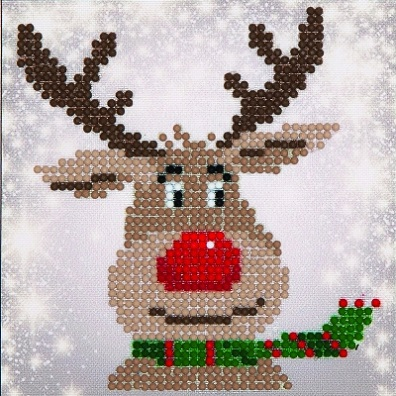 click here to view larger image of Christmas Reindeer (Diamond Embroidery)