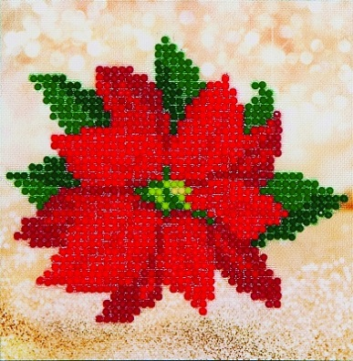 click here to view larger image of Poinsettia (Diamond Embroidery)