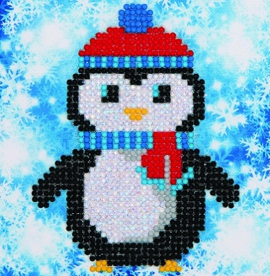 click here to view larger image of Christmas Penguin (Diamond Embroidery)