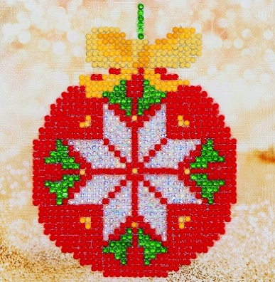 click here to view larger image of Red Bauble (Diamond Embroidery)