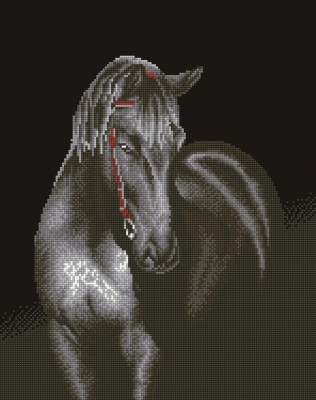 click here to view larger image of Midnight Stallion (Diamond Embroidery)