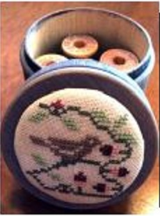 click here to view larger image of Sparrow Storage Jar - Kit (counted cross stitch kit)