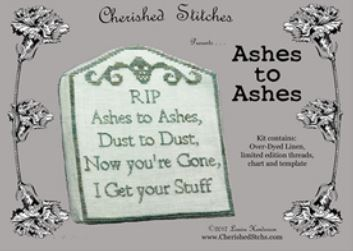 click here to view larger image of Ashes to Ashes - Limited Edition Kit (counted cross stitch kit)