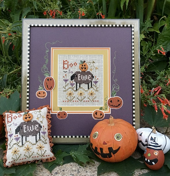 click here to view larger image of Boo to Ewe Pincushion - Kit (counted cross stitch kit)