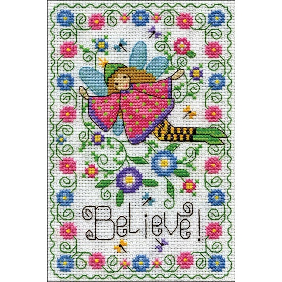 click here to view larger image of Believe Fairy (counted cross stitch kit)