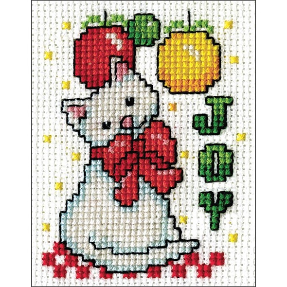 click here to view larger image of Joy Kitty (counted cross stitch kit)