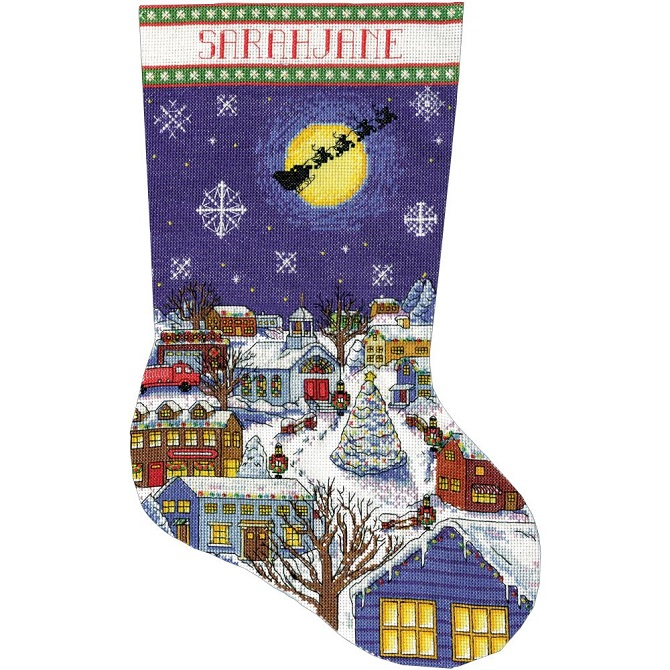 click here to view larger image of Christmas Eve Stocking (counted cross stitch kit)