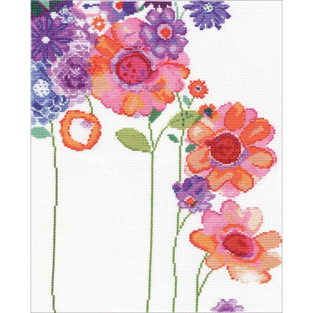 click here to view larger image of Watercolor Garden (counted cross stitch kit)