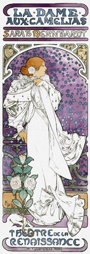 click here to view larger image of La Dame Aux Camelias - Alphonse Mucha (chart)