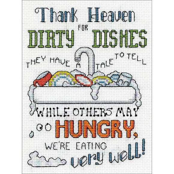click here to view larger image of Dirty Dishes (counted cross stitch kit)