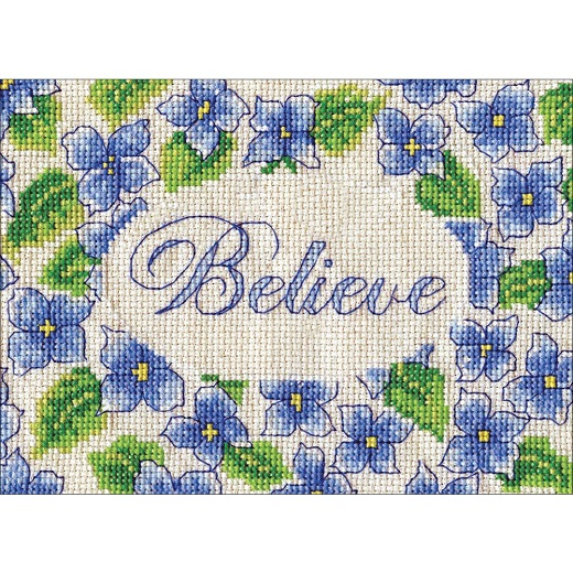 click here to view larger image of Believe (counted cross stitch kit)