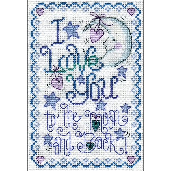 click here to view larger image of To The Moon (counted cross stitch kit)