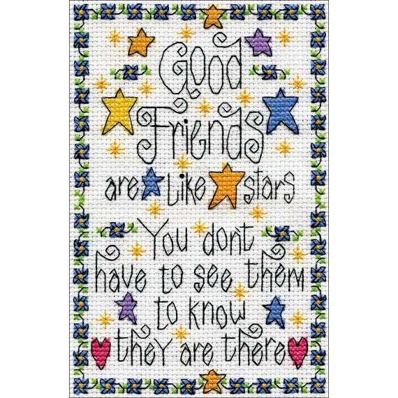 click here to view larger image of Good Friends (counted cross stitch kit)