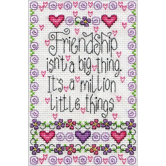 click here to view larger image of Friendship (counted cross stitch kit)