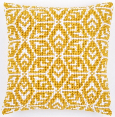 click here to view larger image of Geometric Cushion (needlepoint)