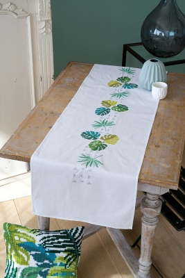 click here to view larger image of Botanical Table Runner (counted cross stitch kit)
