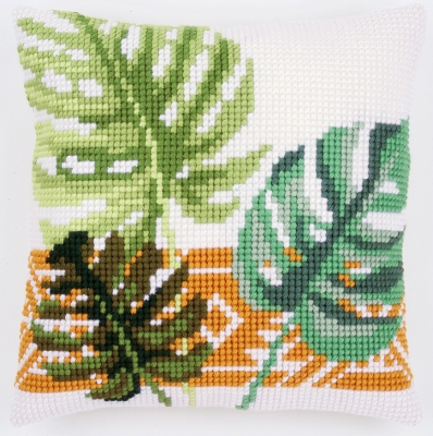 click here to view larger image of Botanical Cushion (needlepoint)