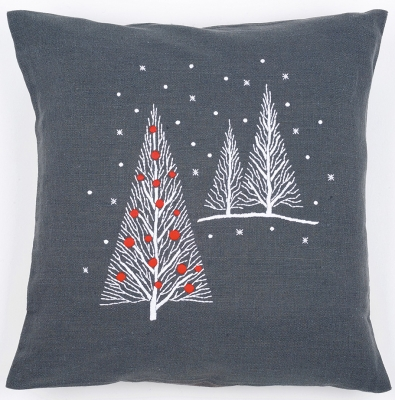 click here to view larger image of Christmas Tree Cushion (stamped cross stitch kit)