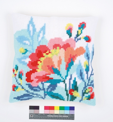 click here to view larger image of Bright Flowers Cushion (needlepoint)