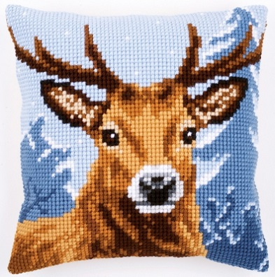 click here to view larger image of Deer Cushion (needlepoint)