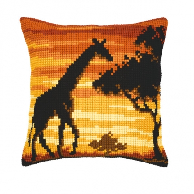 click here to view larger image of Giraffe Cushion (needlepoint)