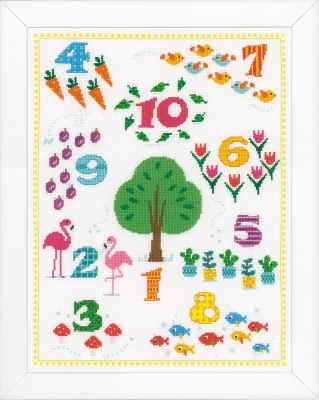 click here to view larger image of Count To 10 (counted cross stitch kit)