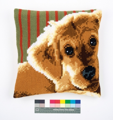 click here to view larger image of Dog Cushion (needlepoint)