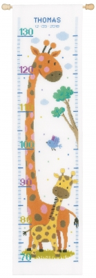 click here to view larger image of Giraffe Growth Chart (counted cross stitch kit)