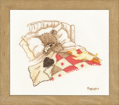 click here to view larger image of Cuddle Up (counted cross stitch kit)