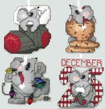click here to view larger image of Chris-Mice Ornaments (chart)