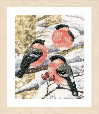 click here to view larger image of  Bullfinch by Marjolein Bastin (counted cross stitch kit)