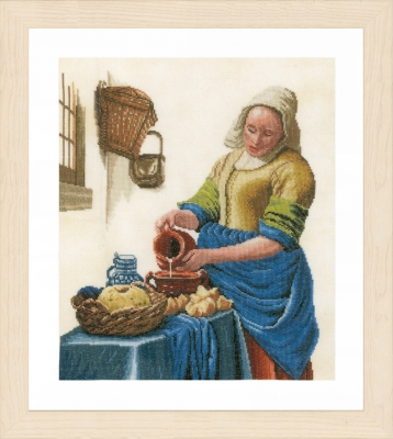 click here to view larger image of Milk Lady (counted cross stitch kit)