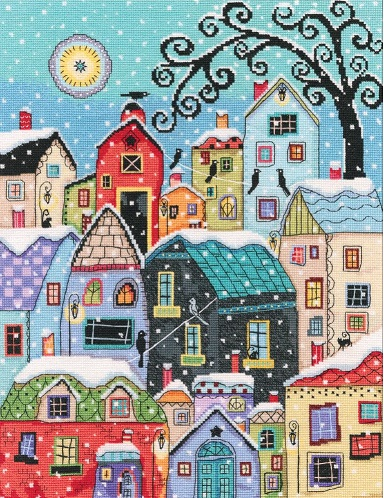 click here to view larger image of Snow Falling (counted cross stitch kit)