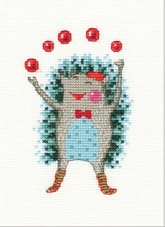 click here to view larger image of Holiday Mood (counted cross stitch kit)